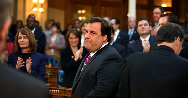 new jersey governor christie spending cuts