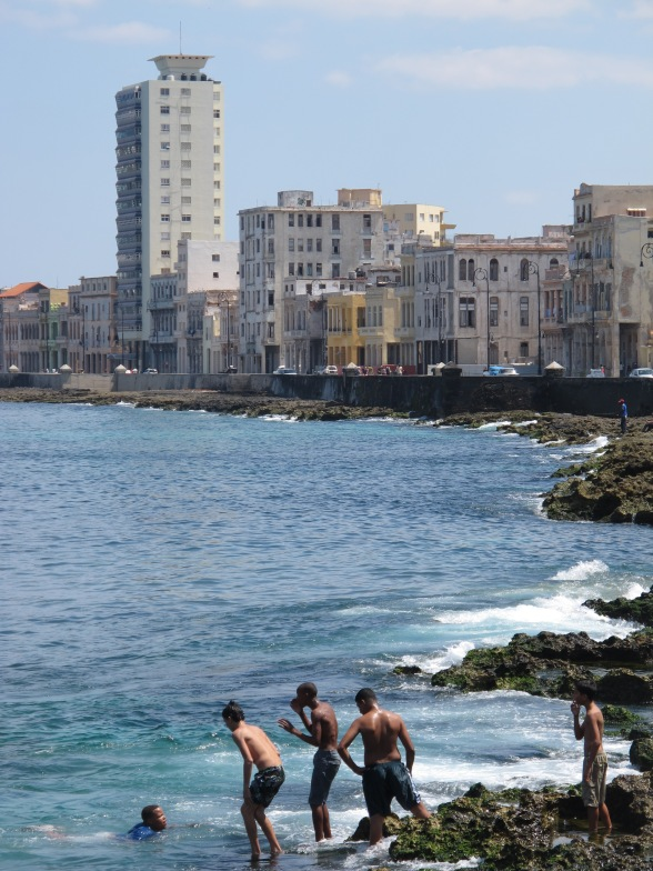 Havana's Malecón, or seawall, close to Calle 23 and not far from where I interviewed Yakelín.