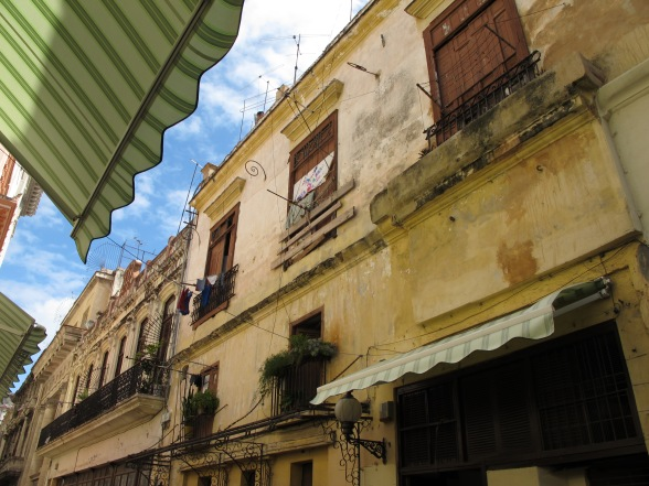 Calle Obispo, in the heavily-touristed Old Havana neighbourhood.