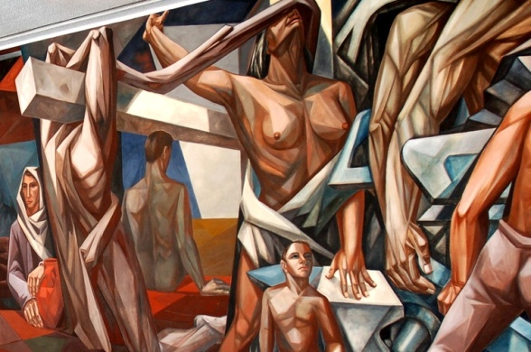 A mural at UN HQ by José Vela Zanetti, via Robin Stevens.