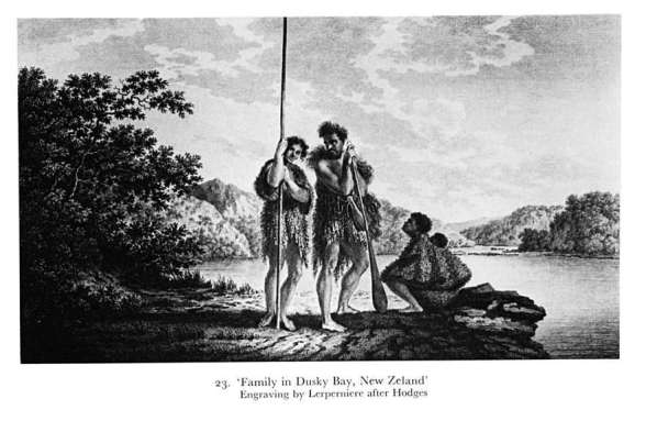 Family in Dusky Bay New Zealand