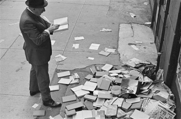 Kertesz - Man and Abandoned Books