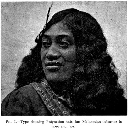 Polynesian Hair Melanesian Features
