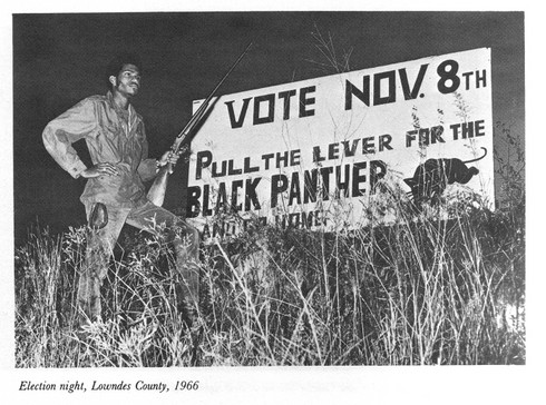 The Panther image was a Southern rural creation, not a Northern urban one