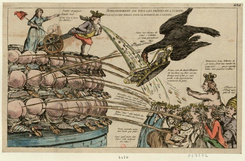 Bombardement de tous les trônes de l'Europe (1792)