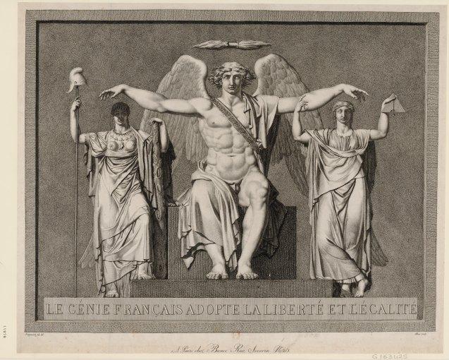 Génie français adopte la Liberté et l'Egalité (1794)