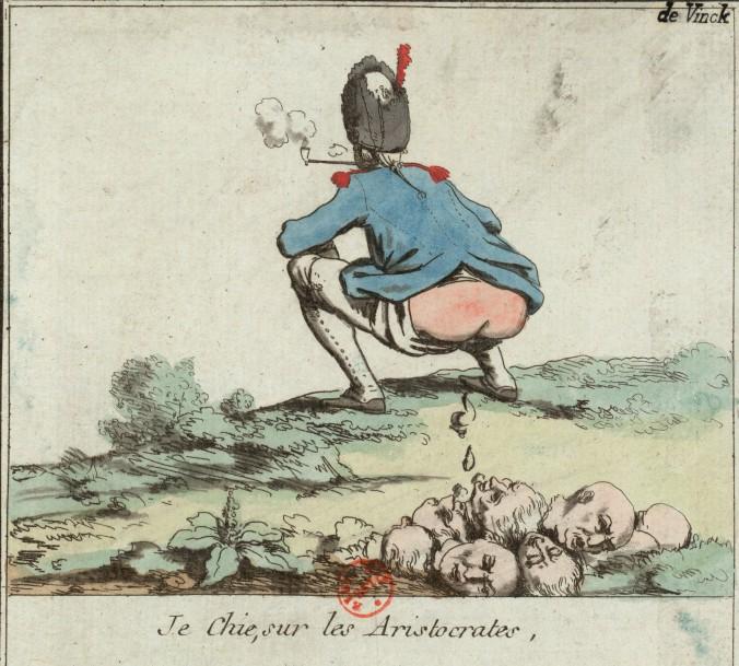 Je chie, sur les aristocrates (1790)