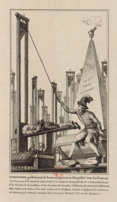 Robespierre guillotinant le boureau (1794)