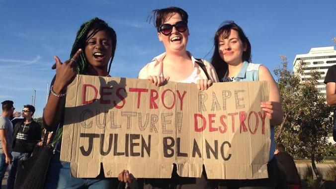 Protesters in Melbourne, Australia.
