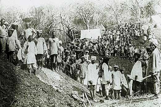 Sikh workers on the Uganda Railway