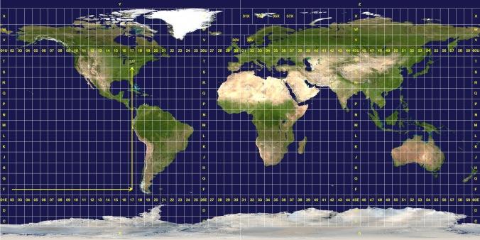 Universal Transverse Mercator coordinate system