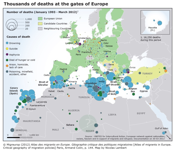 Thousands of deaths at the gates of Europe