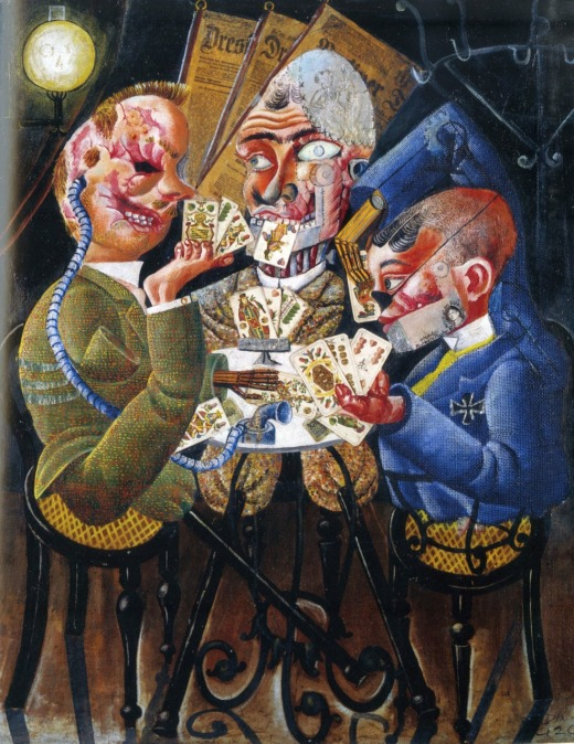Otto Dix - Card-Playing War Cripples - 1920
