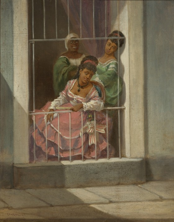 Víctor Patricio de Landaluze, 'Tipos Populares (Damas en la Ventana)' ('Popular Types: Ladies in the Window')