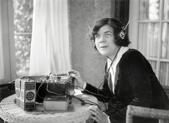 1920 Woman with Radio