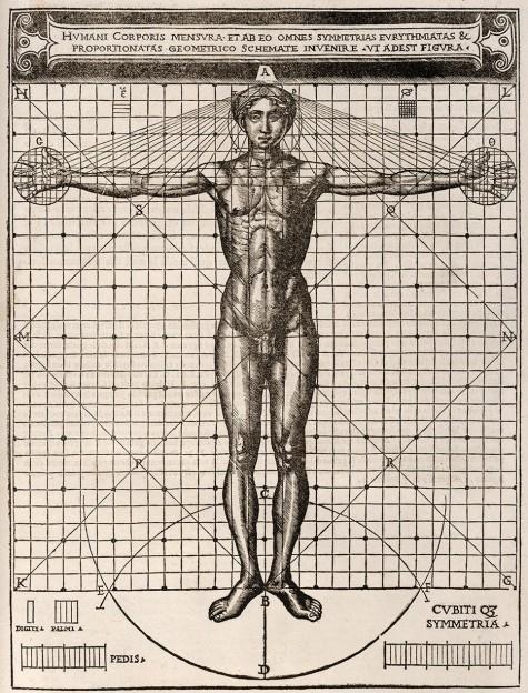 Cesare Cesariano, Vitruvian Man (1521)