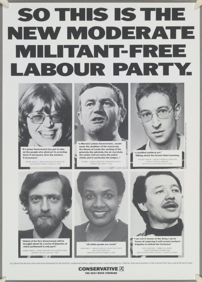 Moderate Militant-Free Labour Conservative Poster