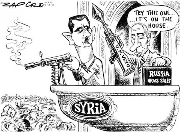Zapiro - Russia Syria Arms Trade