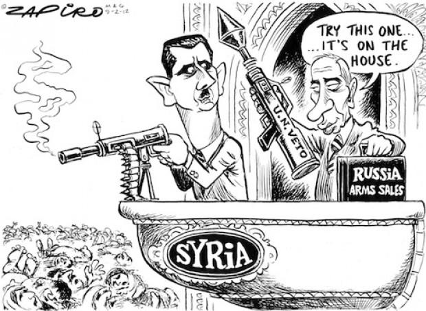 Zapiro - Russia Syria Arms Trade