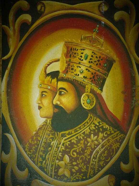 Haile Selassie & Menen Asfaw painting in Shashamene Rutazibwa