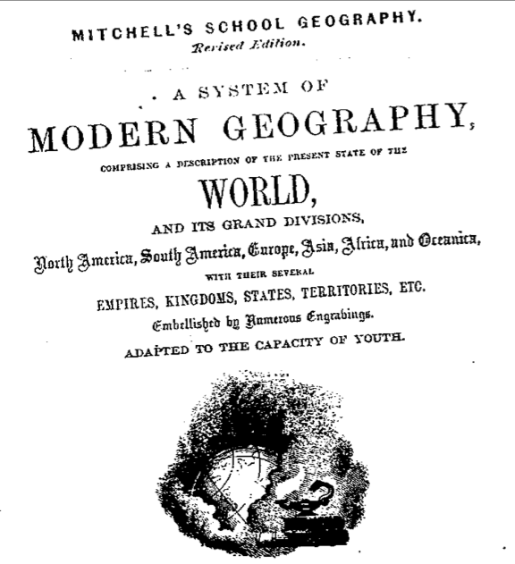 Title page Mitchell's Geography